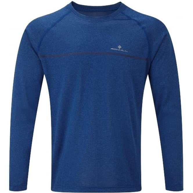 Ronhill Everyday Mens Long Sleeved Running T-shirt Cobalt Marl