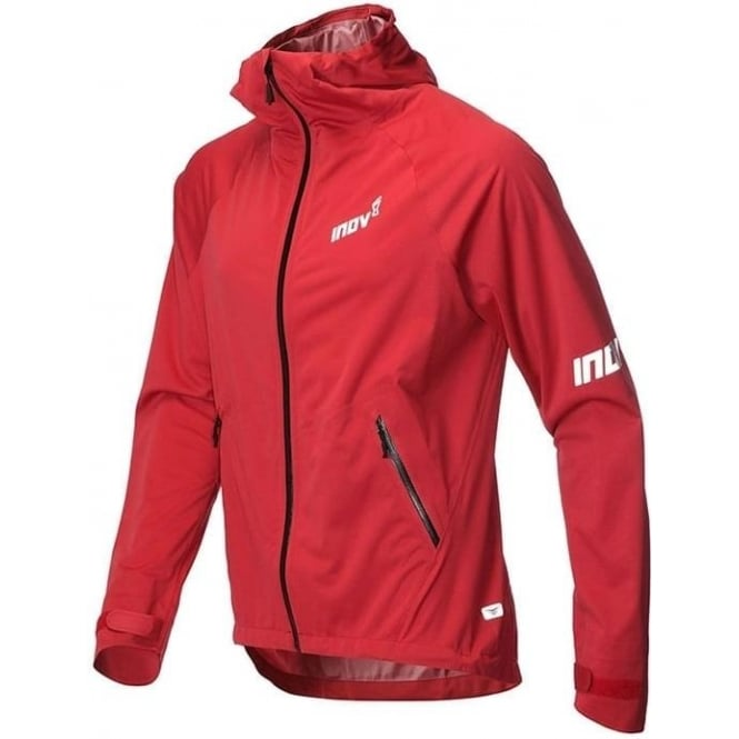 Inov8 AT/C Raceshell Full Zip Mens Running Jacket Dark Red/Black