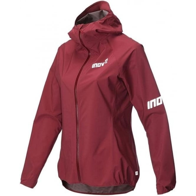 Inov8 AT/C Stormshell Full Zip Womens Running Jacket Dark Red
