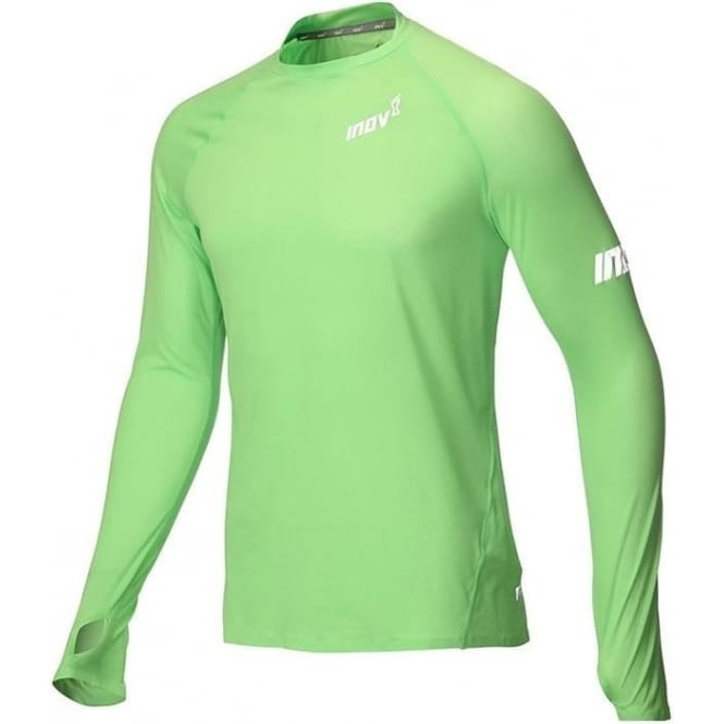 Inov8 AT/C Long Sleeve Mens Running Base Layer Green