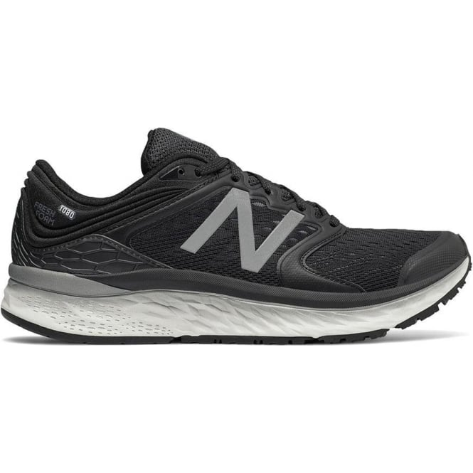 New Balance 1080 v8 Fresh Foam Mens 2E (WIDE) Road Running Shoes Black/White
