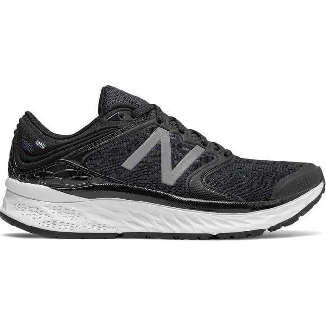 New Balance 1080 v8 Fresh Foam Womens D Width (Wide) Road Running Shoes Black/White