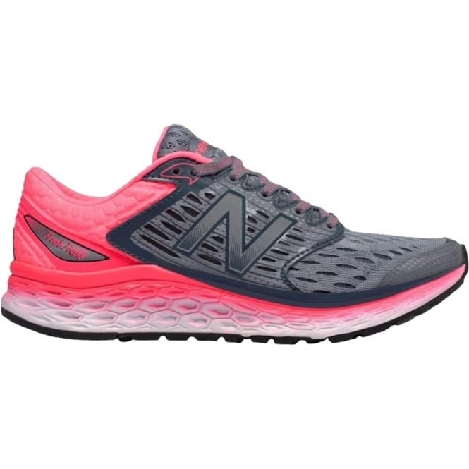 New Balance 1080 v6 Womens B STANDARD WIDTH Road Running Shoes Silver/Pink