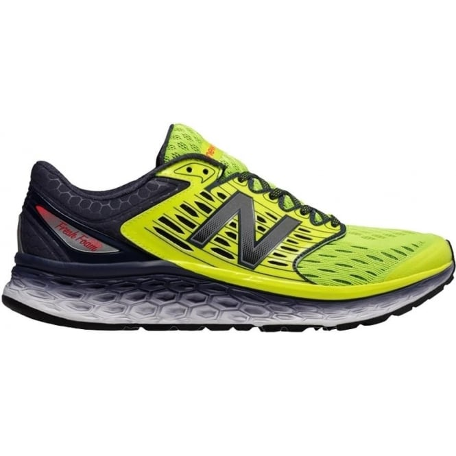 New Balance 1080 v6 Mens D STANDARD WIDTH Road Running Shoes Grey/Yellow
