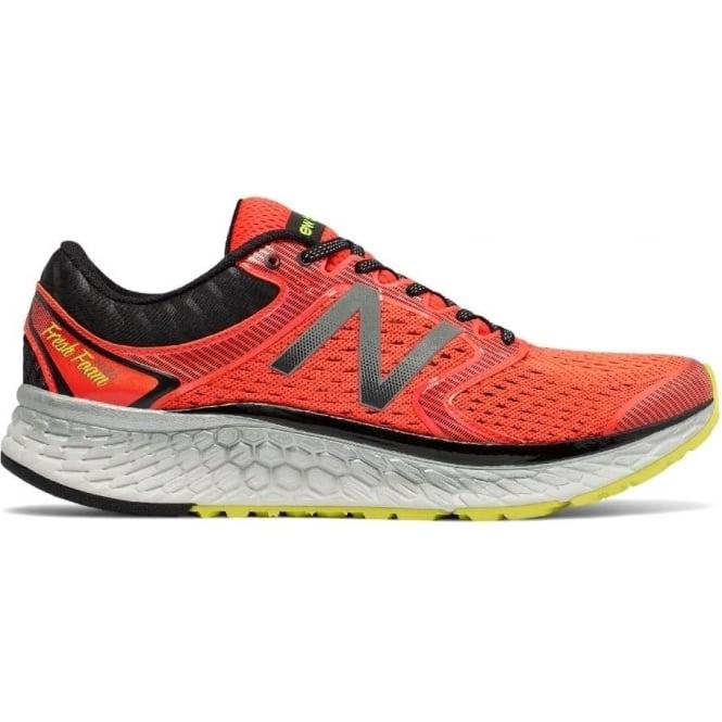 New Balance 1080 v7 Mens D STANDARD WIDTH Road Running Shoes Alpha Orange/Hi-Lite