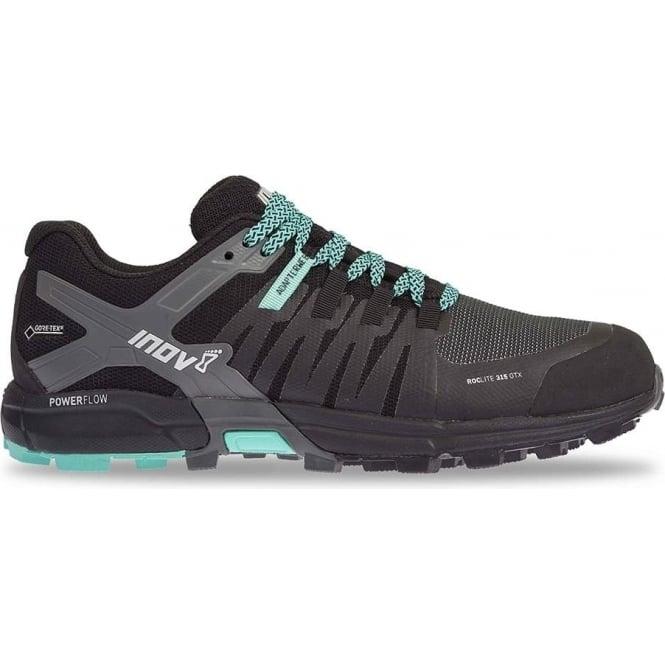 Inov8 Roclite 315 GTX Womens STANDARD FIT Trail Running Shoes Black/Teal