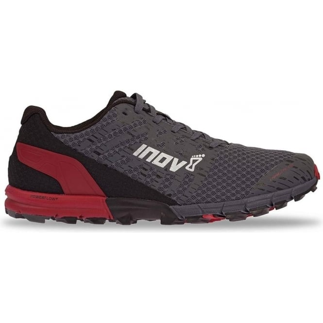 Inov8 TrailTalon 235 Mens STANDARD FIT Trail Running Shoes Grey/Red