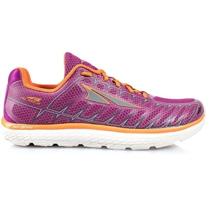 Altra One V3 Womens Zero Drop Road Running Shoes Purple/Orange