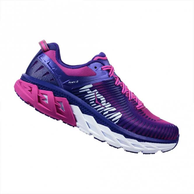 Hoka Arahi 2 Womens Road Running Shoes Liberty/Fuschia