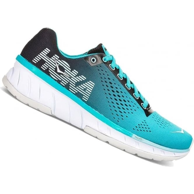 Hoka Cavu Womens Road Running Shoes Black/Bluebird