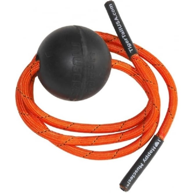 TigerTail Tiger Ball Massage-On-A-Rope Black/Orange