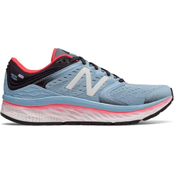 New Balance 1080 v8 Fresh Foam Womens B Width (STANDARD) Road Running Shoes Blue/Coral