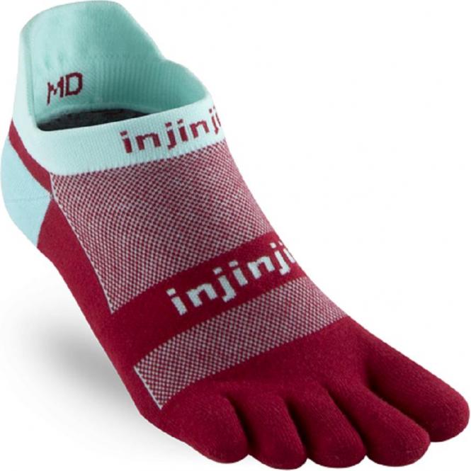 Injinji Socks Run Lightweight No Show Paradise Running Toe Socks