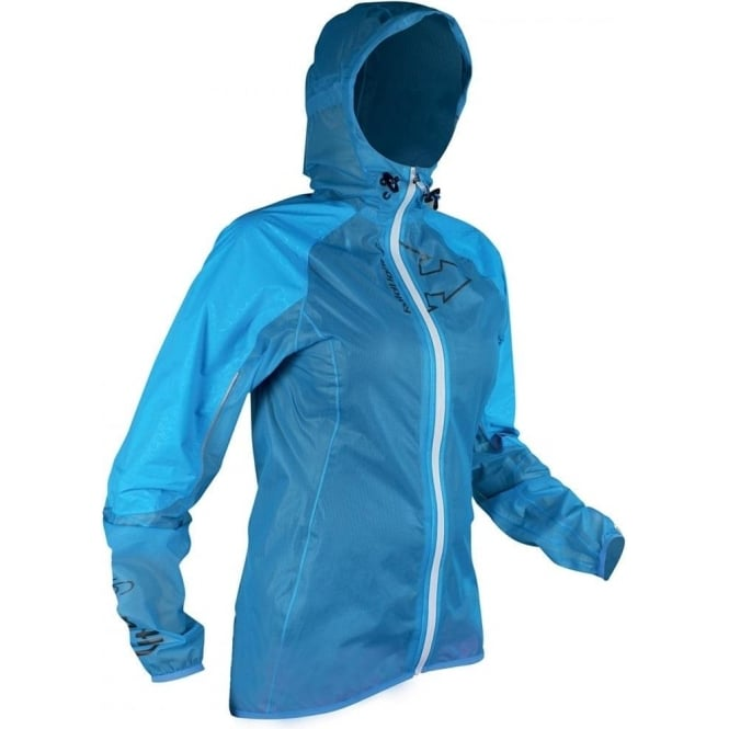 Raidlight Ultra MP+ Womens Waterproof Running Jacket with Hood Blue/Black