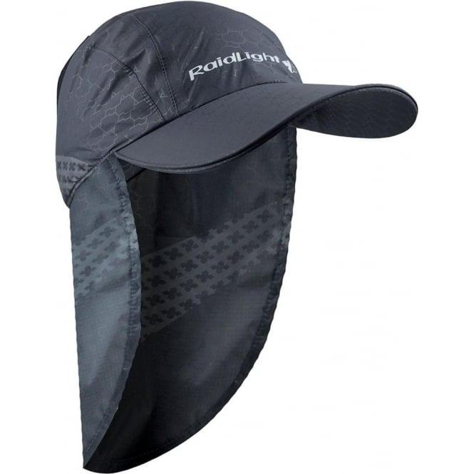 Raidlight MP+ Cap Running Hat with Removable Neck Protection Dark Grey