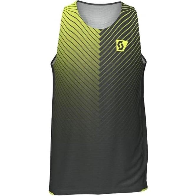 Scott RC Run Mens Seamless Hem Singlet Vest Black/Yellow