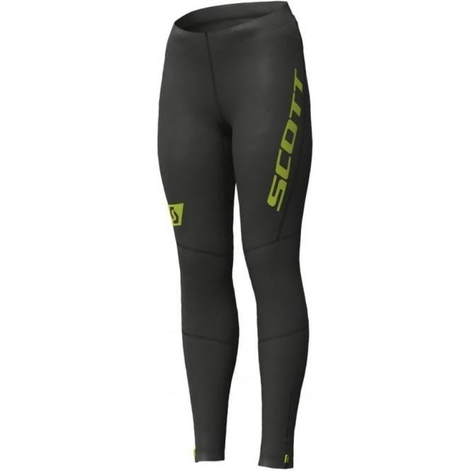 Scott RC Run Womens Full Length Running Tights Black/Yellow