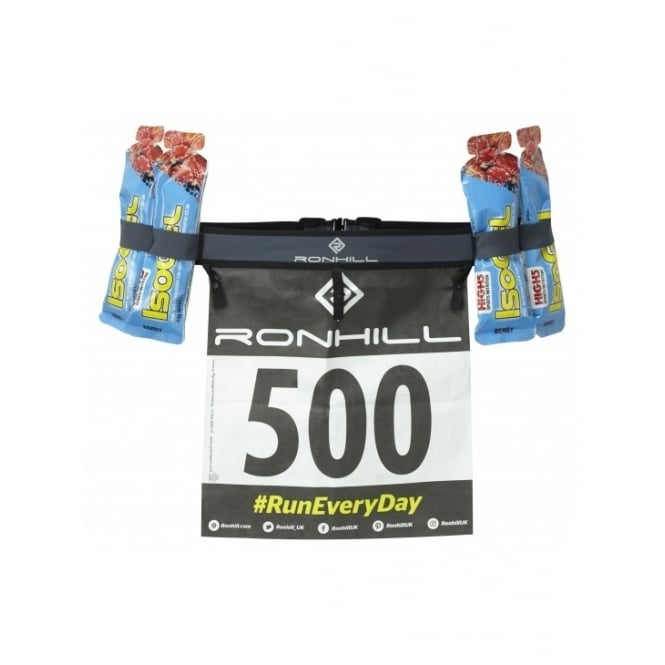Ronhill Race Number Belt with Gel Loops Charcoal