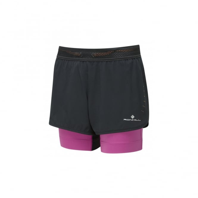 Ronhill Infinity Marathon Womens Running Shorts with Lyrcra Inner Short & Energy Gel Pockets