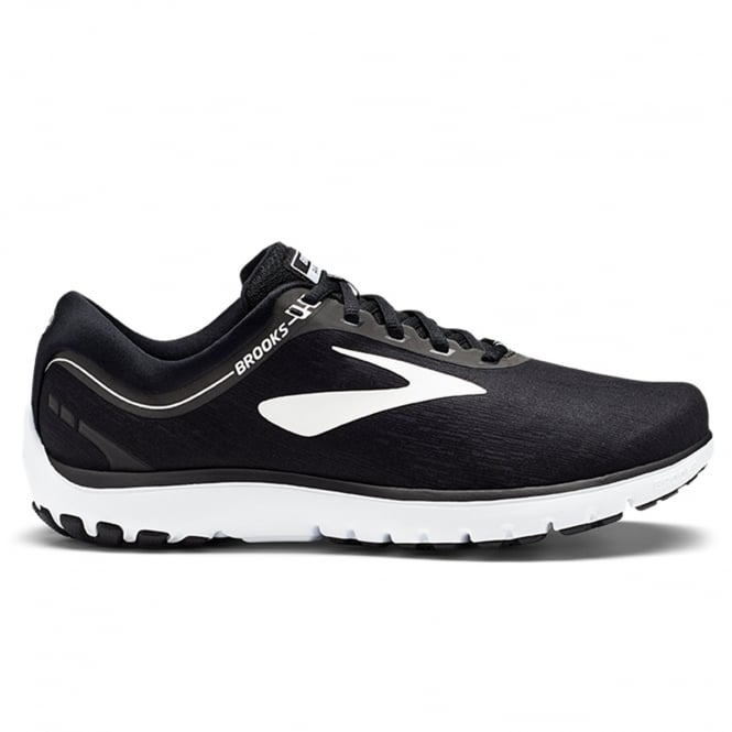 Brooks Pure Flow 7 Mens D STANDARD WIDTH Cushioned Road Running Shoes Black/White