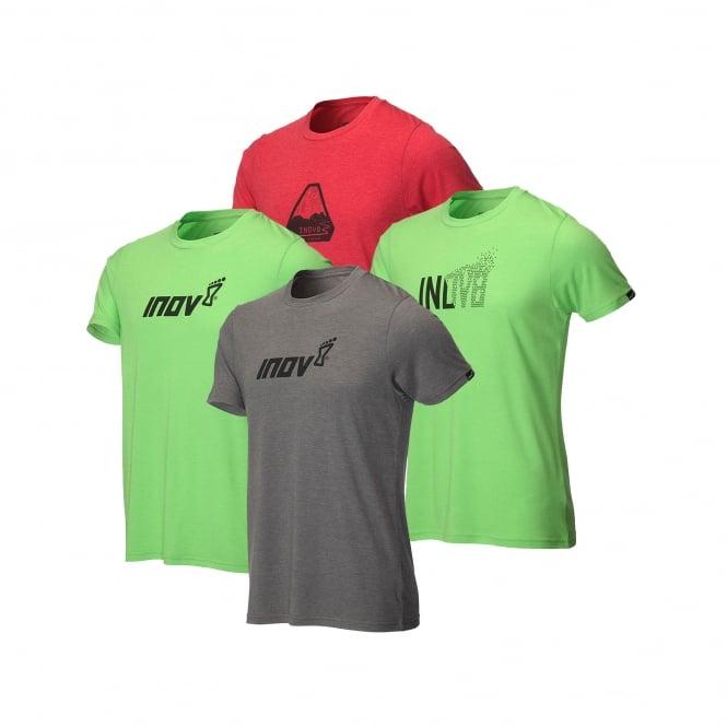 Inov8 AT/C Tri Blend Mens Sweat Wicking Short Sleeved Running T-Shirt