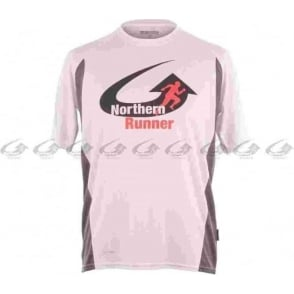 Northern Runner Breathable Running T-Shirt White/Grey Mens