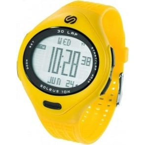 Soleus 10k Yellow Large Running Watch