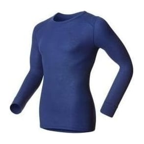Odlo Long Sleeve Crew Neck Warm Running Shirt Mens Blue