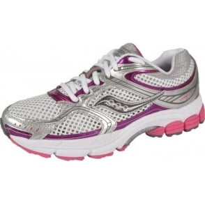 Saucony ProGrid Stabil CS 2 Road Running Shoes White/Silver/Pink Women's