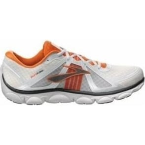 Brooks Pure Flow Minimalist Road Running Shoes White/Orange Mens