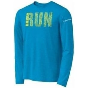 Brooks EZ Run Long Sleeve Tee Shirt Atlantic Mens