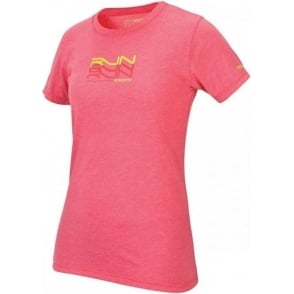 Saucony Kinvara Short Sleeve Graphic Tee Shirt Light Red Women's