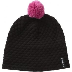 Hilly Nite Bobble Hat Black/Pink