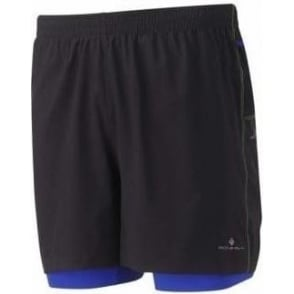 Ronhill Trail Cargo Twin Short Black/Cobalt Mens