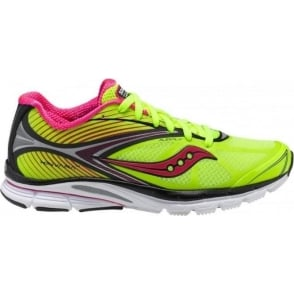 Saucony Kinvara 4 Minimalist Road Running Shoes Citron/Black/Pink Women's