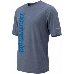 Brooks EZ Tee II Running T-Shirt Heather Flint Mens