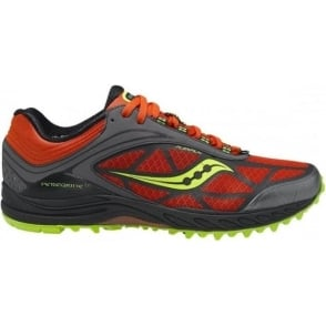 Saucony Peregrine 3 Minimalist Trail Running Shoes Orange/Black/Citron Mens