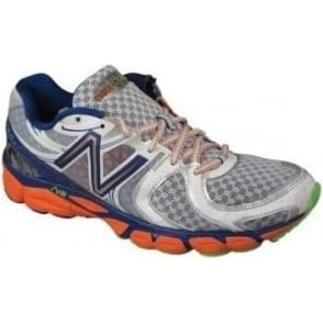 New Balance 1260 V3 Silver/Orange Road Running Shoes (D WIDTH - STANDARD) Mens