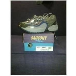 Saucony Grid Departure Trail Shoes Grey/Navy/Orange Womens