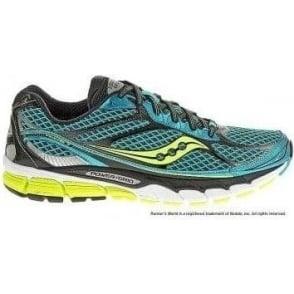 Saucony Ride 7 Road Running Shoes Blue/Black/Citron Mens