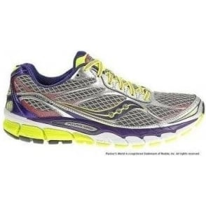 Saucony Ride 7 Road Running Shoes Silver/Purple/Citron Womens