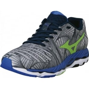Mizuno Wave Paradox Road Running Shoes Grey/Green/Blue Mens