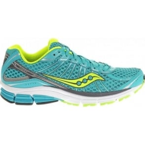 Saucony Jazz 17 Road Running Shoes Blue/Citron/Grey Womens