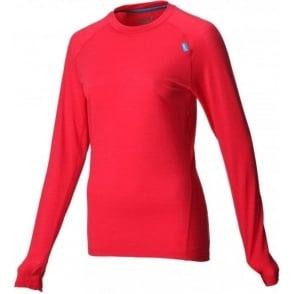 Inov8 Base Elite 125 Long Sleeve Merino Base Layer Red Womens
