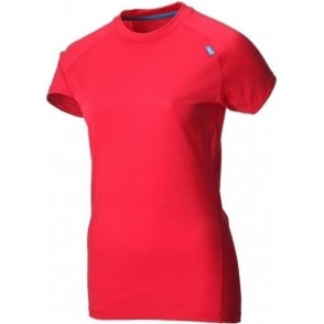 Inov8 Base Elite 95 Short Sleeve Merino Base Layer Barberry/Turquoise Womens