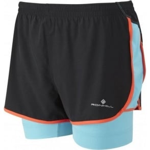 Ronhill Trail Twin Short Black/Hawaii Womens