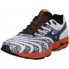 Mizuno Sayonara 2 Mens Road Running Shoes White/Blue/Orange Mens