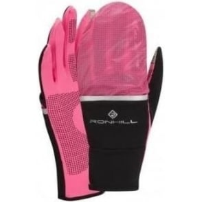 Ronhill Switch Running Glove Black/Fluo Pink