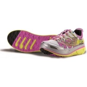 Hoka Kailua Trail Running Shoes Citrus/White/Fuschia Womens