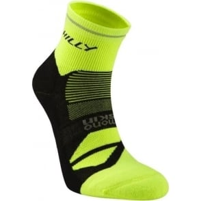 Hilly Photon Anklet Running Socks Black/Fluo Yellow